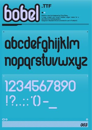 bobel_font_by_pitters