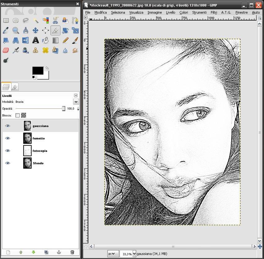 Tutorial gimp ottenere un disegno a matita da una foto for Programma per disegnare le planimetrie gratuitamente