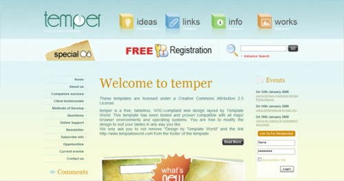 temper-xhtml-css-template