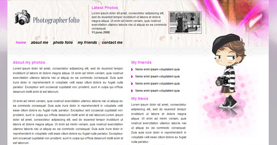 photographer-folio-xhtml-css-template