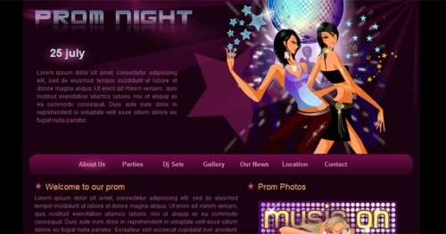 prom-night-xhtml-css-template