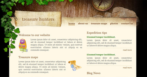 treasure-hunters-xhtml-css-template